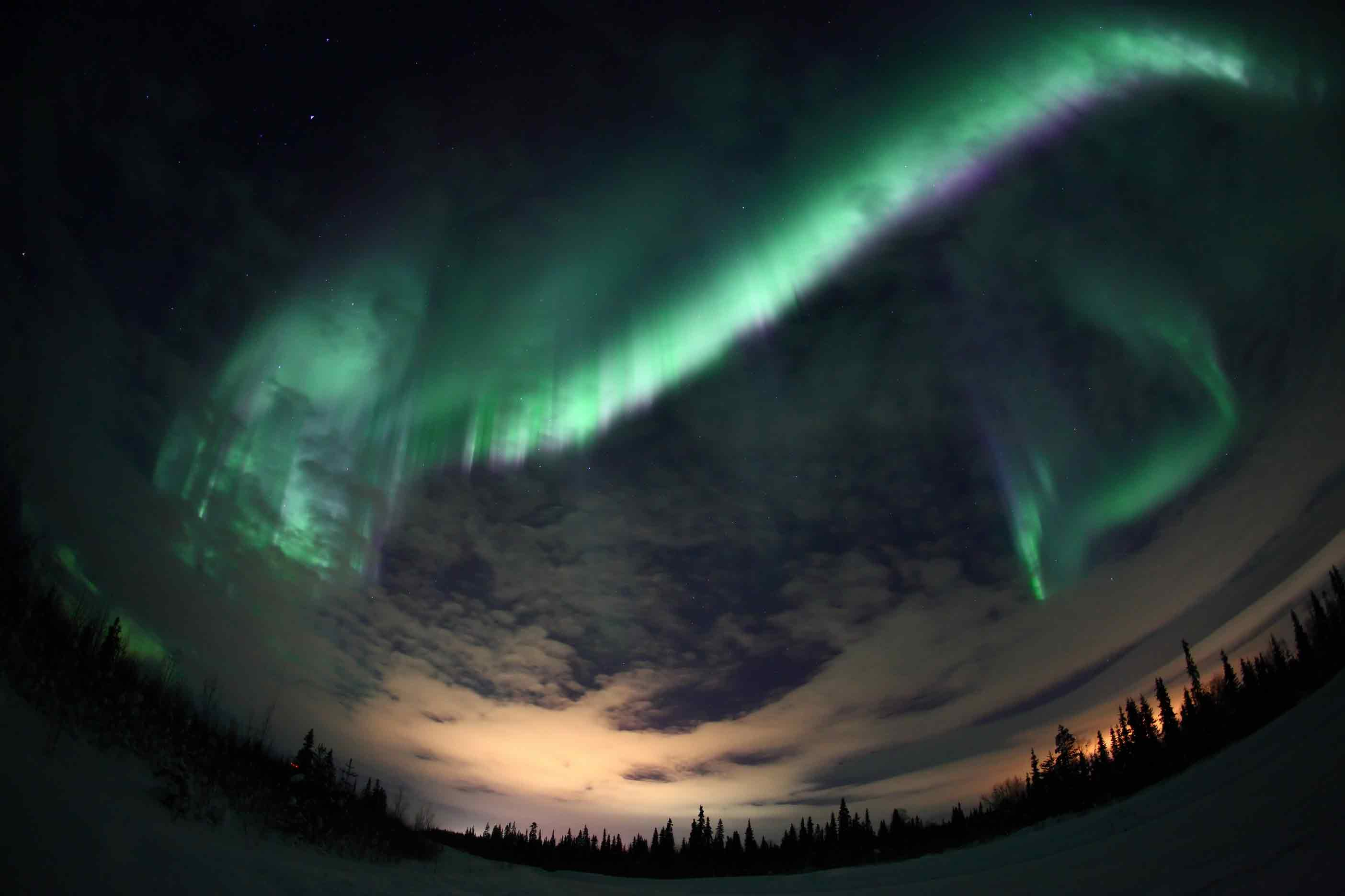 The Northern Lights Appear Every Winter Over Lake Lovozero Lost Somewhere In Kola Peninsula Beyond Arctic Circle Russian Saami Who Live On